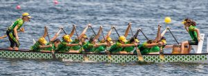 Australian Aurora dragon boating crew in action