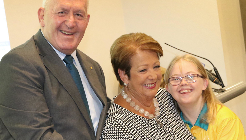 Ellen Maher with Governor General and Mrs Cosgrove